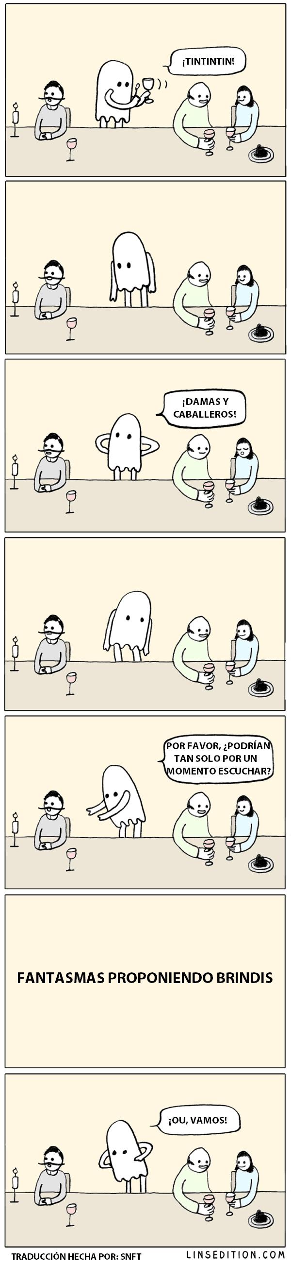 fantasmas proponiendo brindis WarNPeasTrSNFT