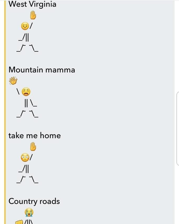 dancing emoji to country roads