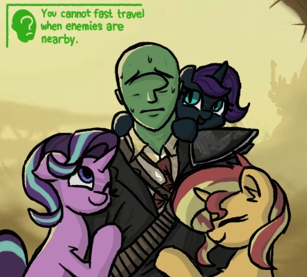 anonymous OC fallout starlight glimmer plunger sunset shimmer - 9183639552