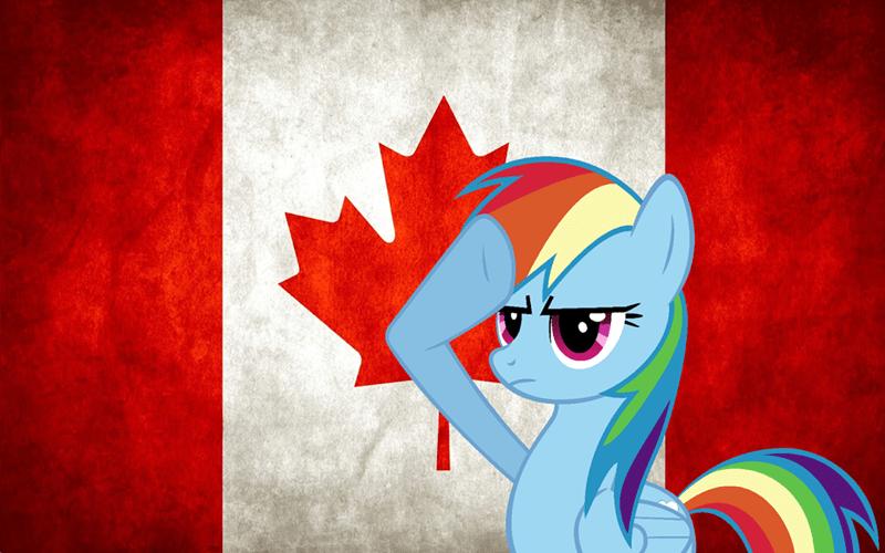 Canada canada day rainbow dash - 9183849984