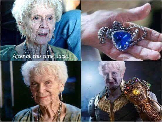 meme about the heart of the ocean from Titanic being an infinity stone