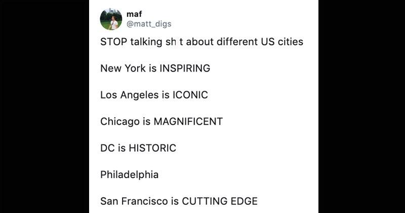 Funny Twitter meme entitled 'Stop Talking Sh*t'