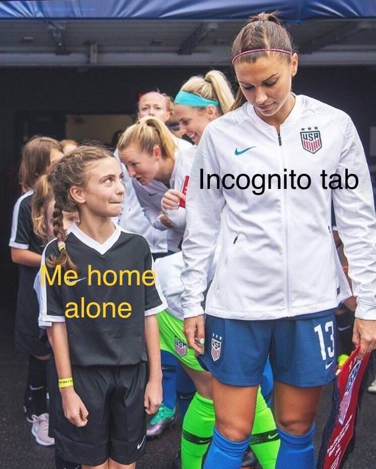 dank meme about eyeing tat incognito tab with a kid basking in the glory of a sports icon they recognize