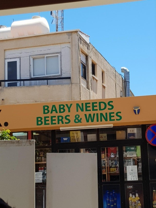 Building - BABY NEEDS BEERS &WINES LINIE