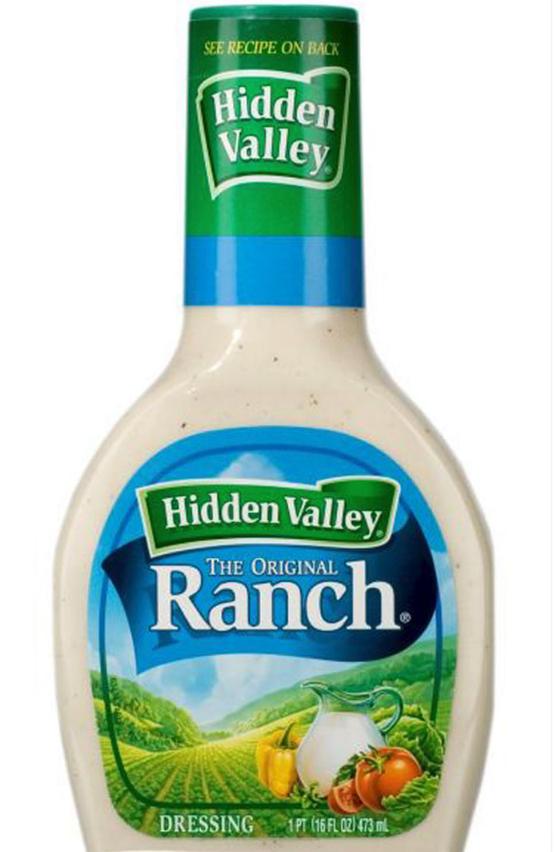 Ranch dressing - SEE RECIPE ON BACK Hidden Valley Hidden Valley THE ORIGINAL Ranch 00 1PT (16FL 02)473 m DRESSING