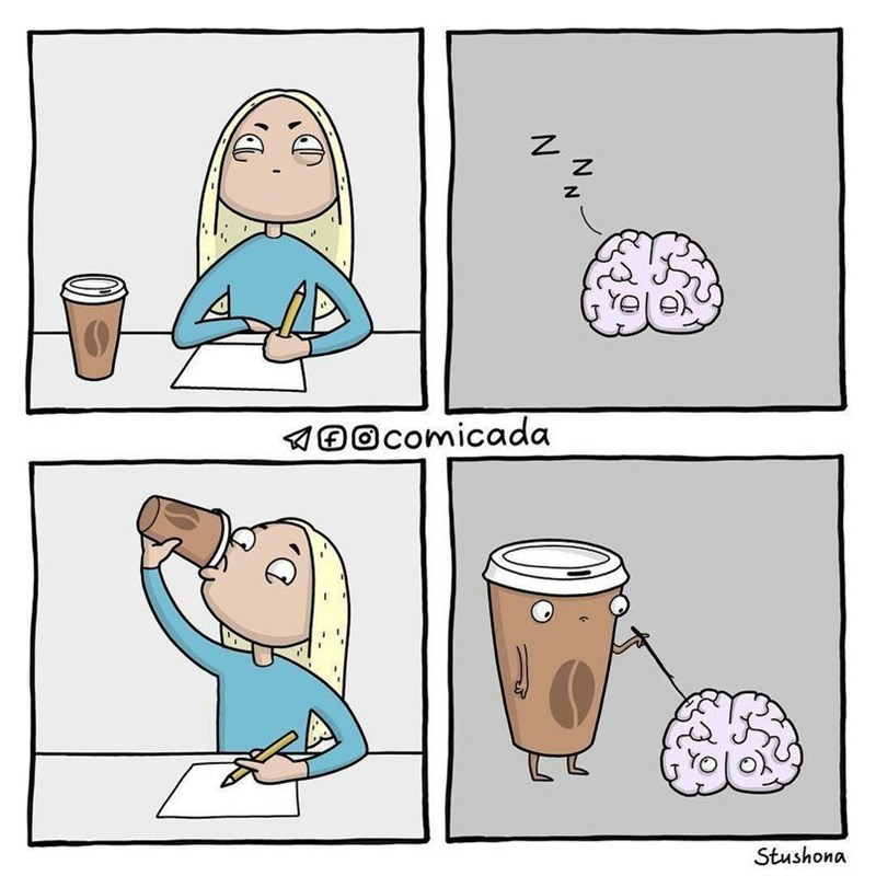 cuando tu cerebro no despierta y le echas cafe