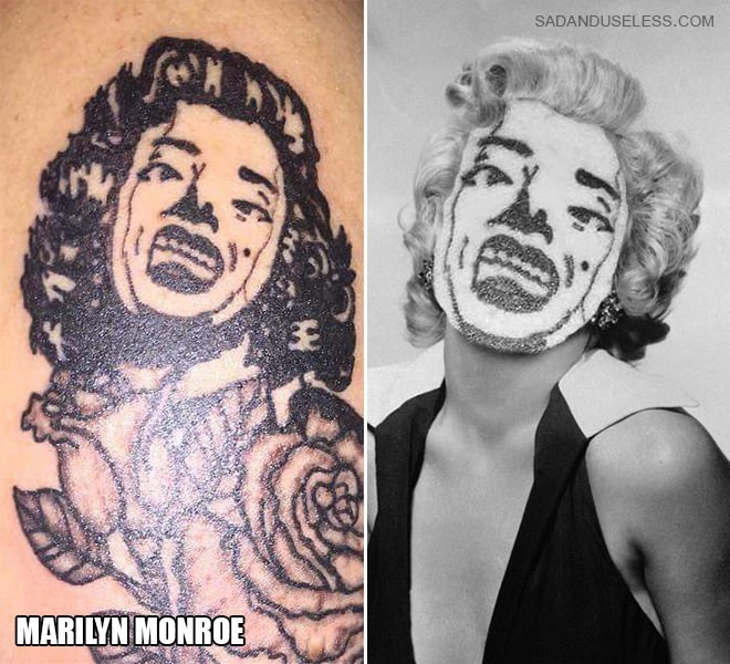 Tattoo - SADANDUSELESS.COM MARILYN MONROE