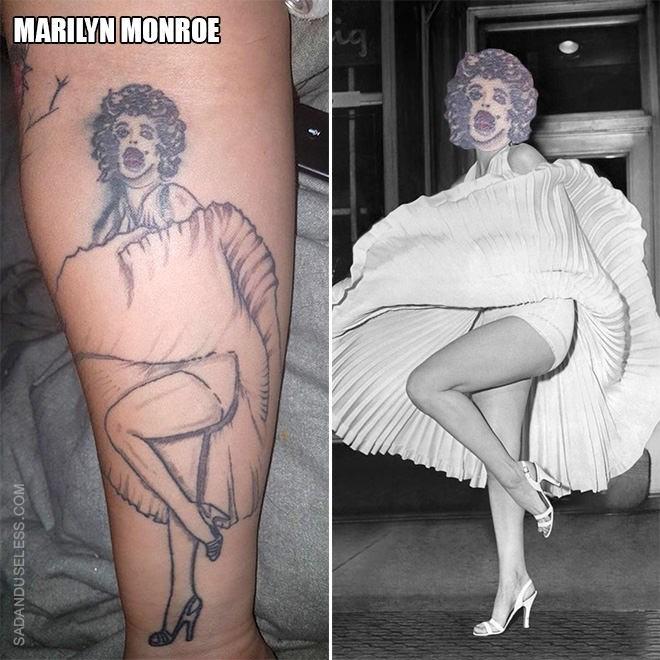 Tattoo - MARILYN MONROE SADANDUSELESS.COM