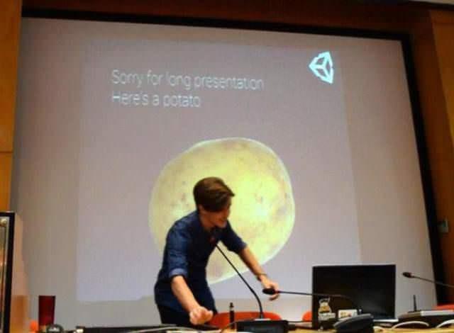 Presentation - Sorry for long presentation Here's a potato