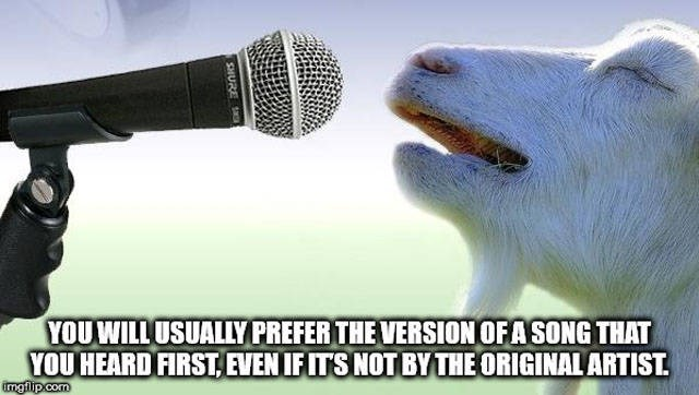 Microphone - YOUWILL USUALLYPREFER THE VERSIONOFASONG THAT YOU HEARD FIRST,EVEN IFITS NOT BYTHE ORIGINALARTIST mgilp.com SHURE