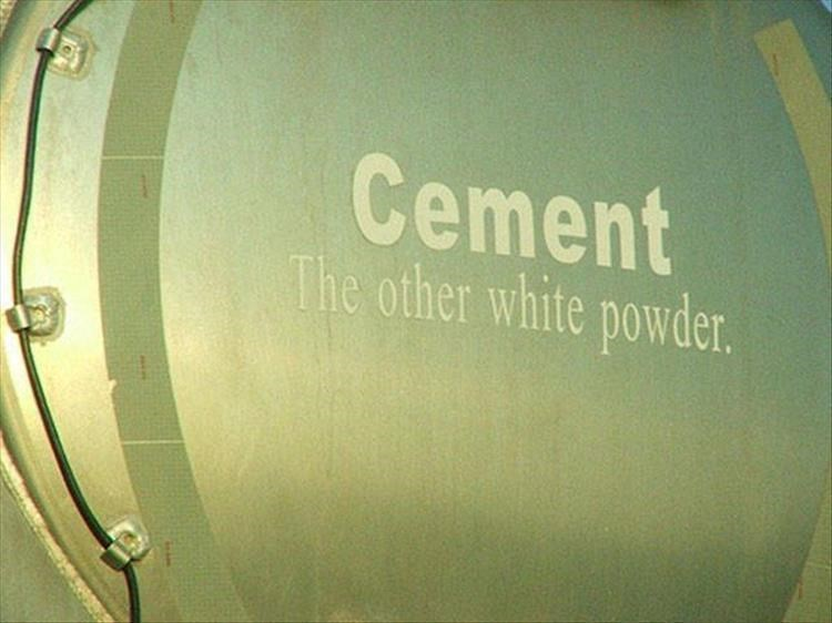 Drum - Cement The other white powder.