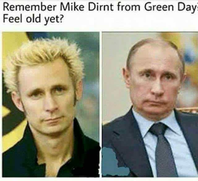 meme - Hair - Remember Mike Dirnt from Green Day? Feel old yet?