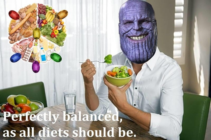 Food - Perfectly balanced, as all diets should be.