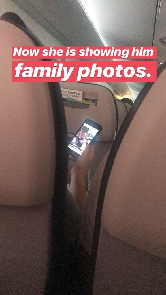 Leg - Now she is showing him family photos. KA'S FAMOUS ANION FARE