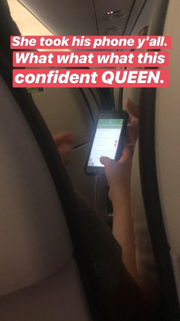 Text - She took his phone y'all. What what what this confident QUEEN.