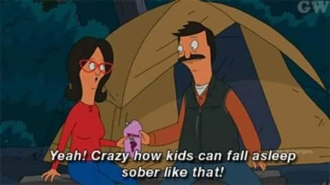 Animated cartoon - GW Yeah! Crazy how kids can fall asleep sober like that!