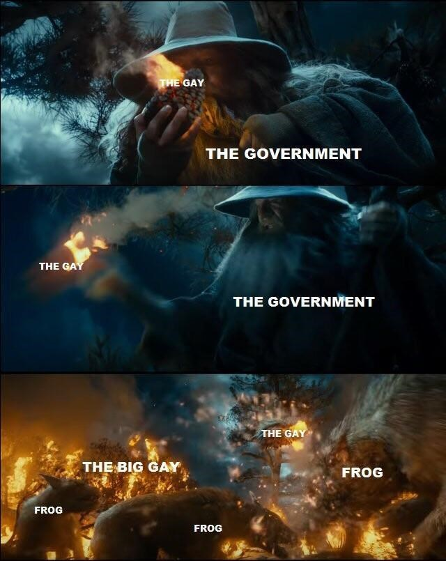 Movie - THE GAY THE GOVERNMENT THE GAY THE GOVERNMENT THE GAY THE BIG GAY FROG FROG FROG