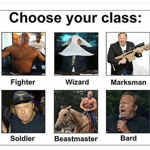 Horse - Choose your class: DEFEND Fighter Wizard Marksman Bard Soldier Beastmaster