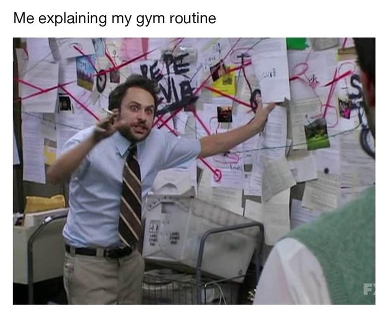 Arm - Me explaining my gym routine