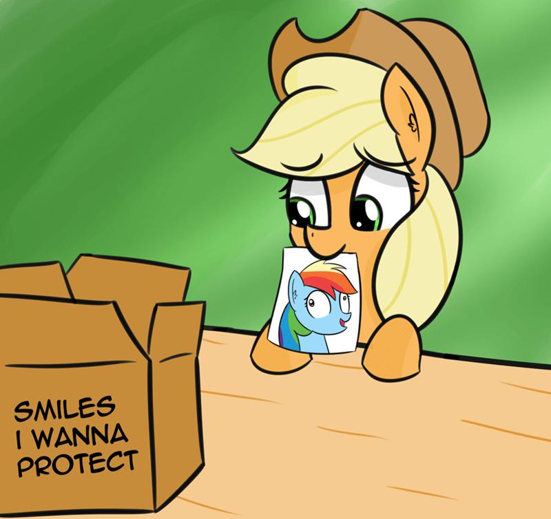 applejack i wanna protect that smile artik Memes rainbow dash - 9186170880