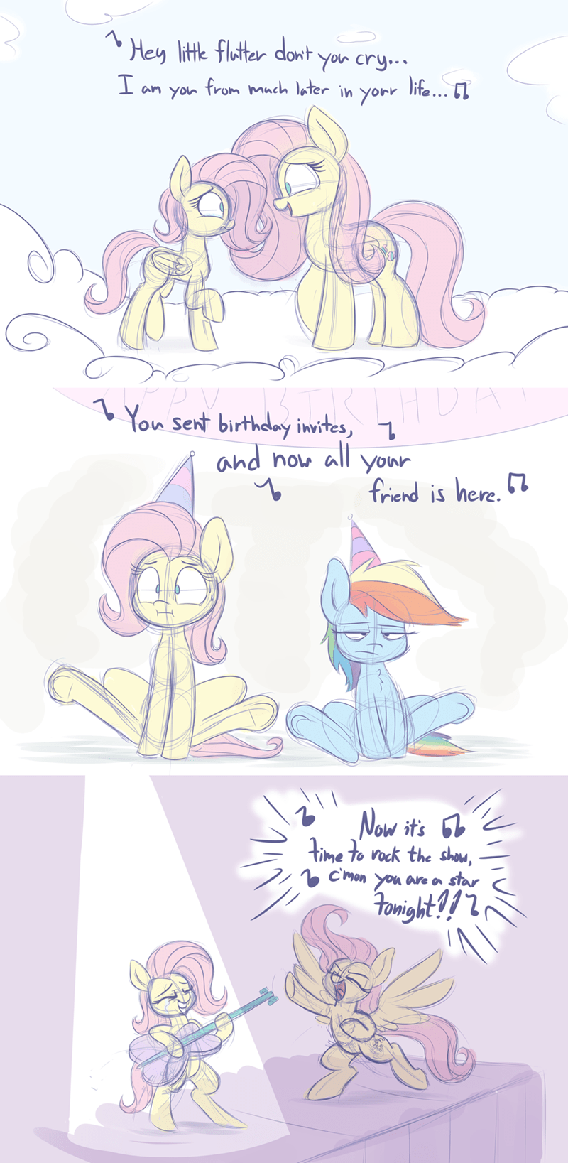 Ninja Sex Party ponify comic danny don't you know fluttershy rainbow dash heir of rick - 9186173440