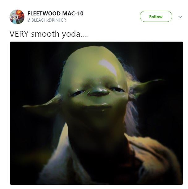 Face - FLEETWOOD MAC-10 Follow @BLEACHXDRINKER VERY smooth yoda...