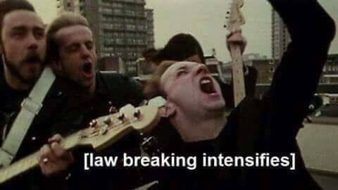 Photo caption - [law breaking intensifies]