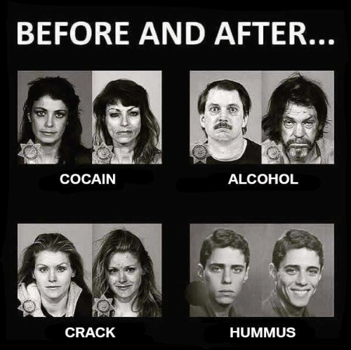 Face - BEFORE AND AFTER... COCAIN ALCOHOL CRACK HUMMUS