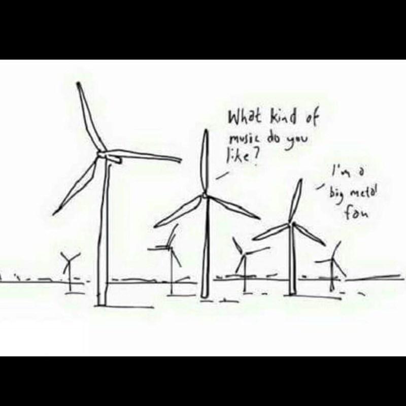 music meme - Wind turbine - What knd of musit do yu Ehe 7 bi met fon