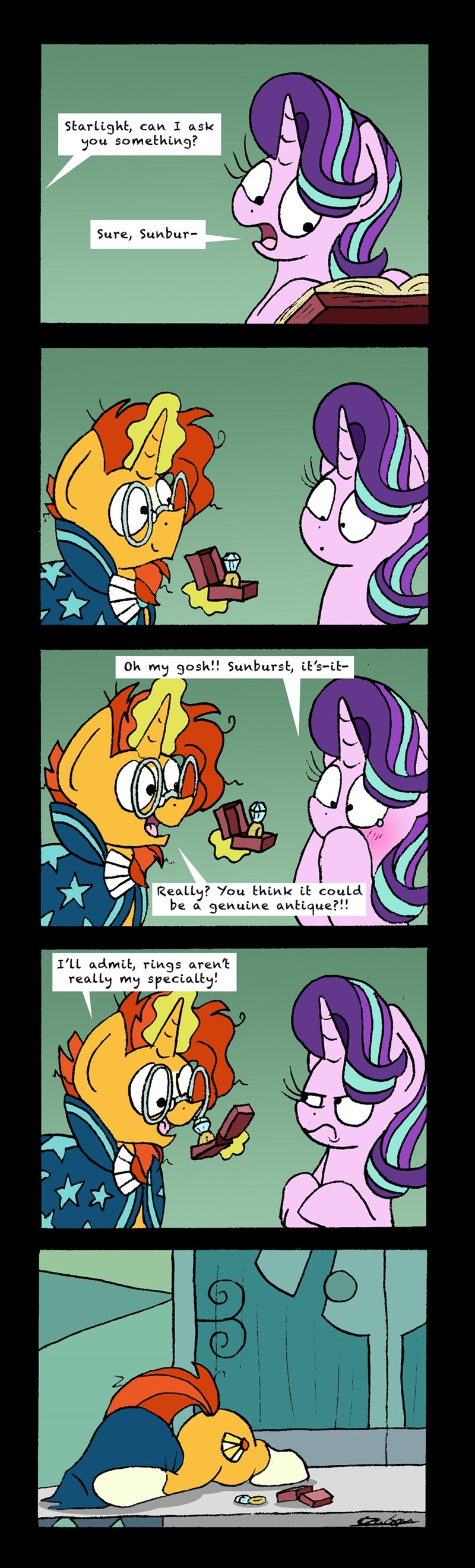 sunburst bob the dalek starlight glimmer comic - 9186880768