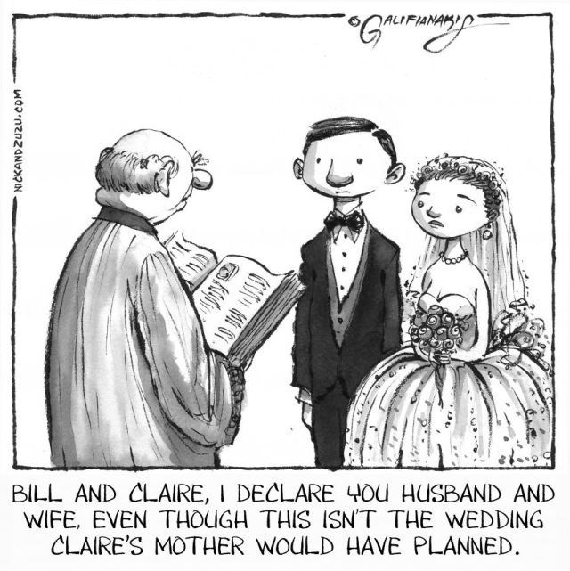Cartoon - Gu ALIFIAN BILL AND CLAIRE, I DECLARE 4OU HUSBAND AND WIFE, EVEN THOUGH THIS ISNT THE WEDDING CLAIRE'S MOTHER WOULD HAVE PLANNED NICKANDZU2U.cOM