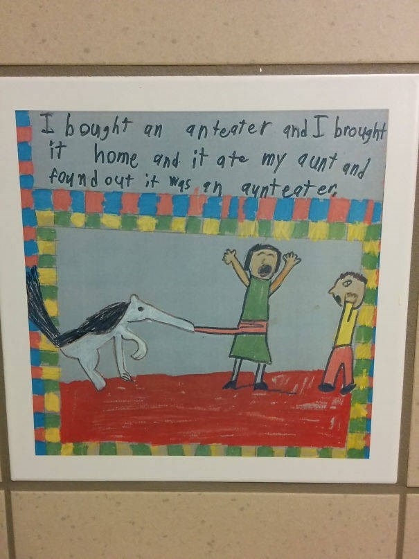 Text - an anteater and I brought Ibought it home and it qte my aunt and found out it was th aynteater