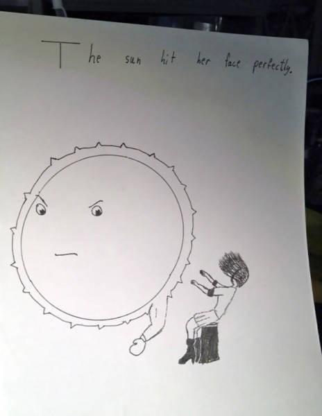 Cartoon - The San hit her fact pertecthy