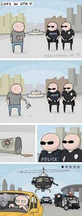 Cartoon - COPS IN GTA V POLICE PIKSLITOMME al. 10 POLICE POLICE OLIC