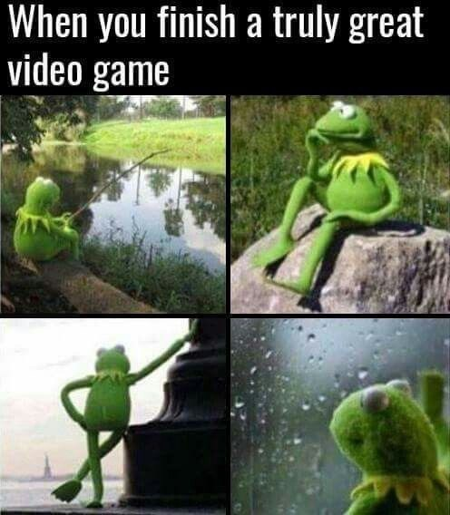 Nature - When you finish a truly great video game