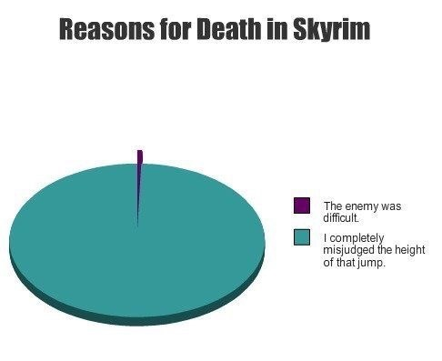 Line - Reasons for Death in Skyrim The enemy was difficult I completely misjudged the height of that jump