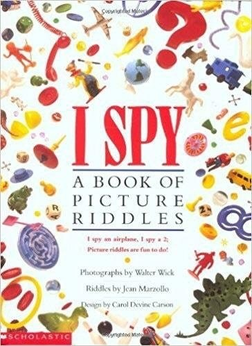 "nostalgic meme of ""I Spy"" book of picture riddles"