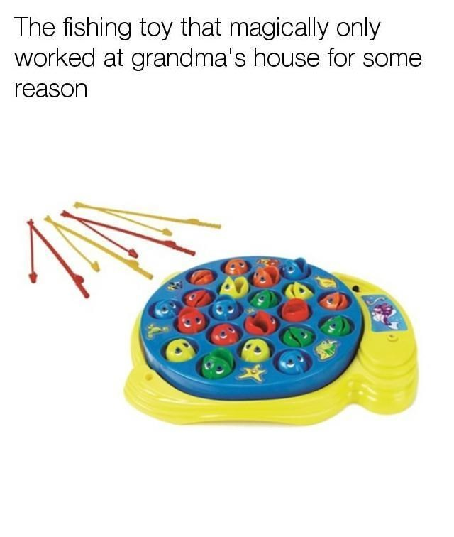 fishing toy nostalgia that only worked at grandma's house