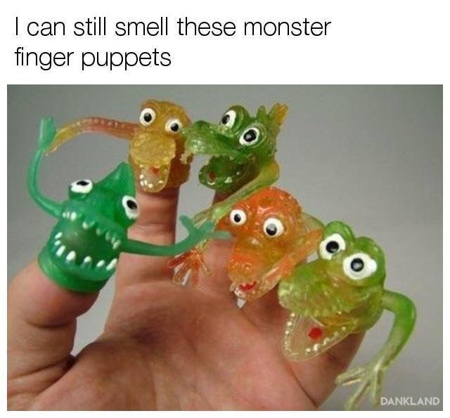 nostalgia of the gooey finger puppet monsters