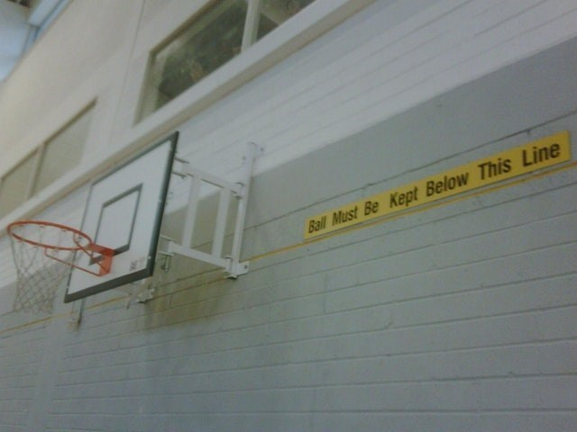 Wall - Ball Must Be Kept Below This Line