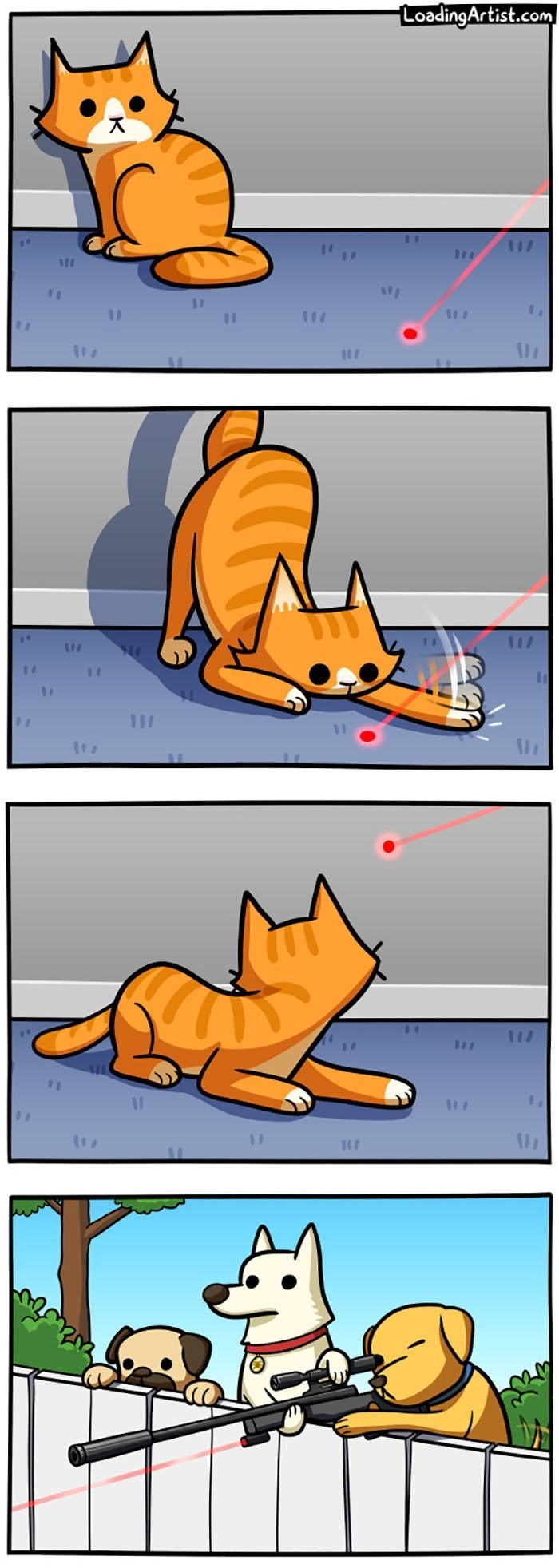 vineta de loadingartist gato muy curioso