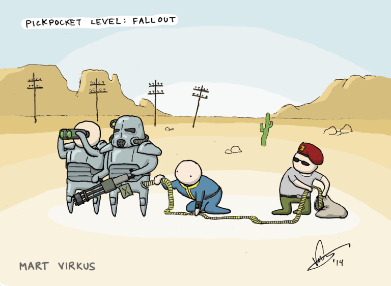 Cartoon - PICKPOCKET LEVEL: FALL OUT MART VIRKUS 44