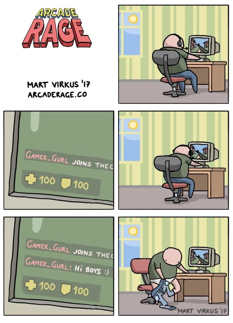Comics - ARCADE RAGE MART VIRKUS '17 ARCADERAGE.CO GAMER GURL JOINS THE C 100 100 GAMER GURL JOINS THE GAMER GURL: Hi BOYS: 100 100 MART VIRKUS '17