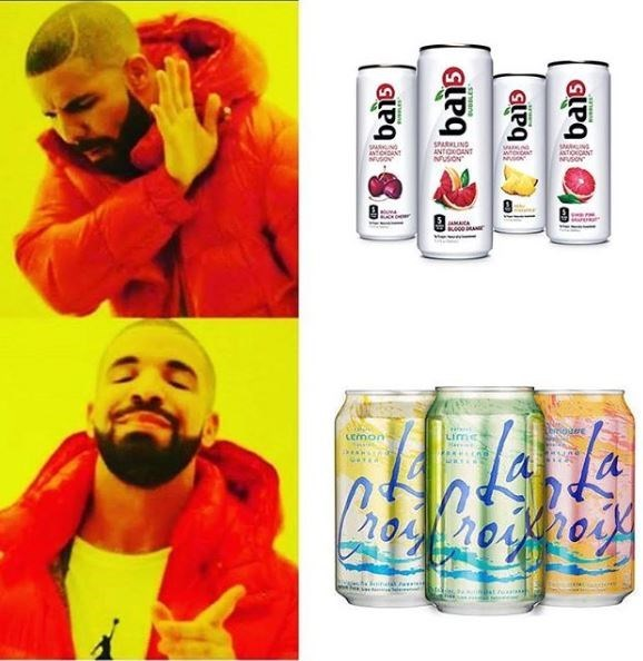 Drake prefers La Croix in this meme