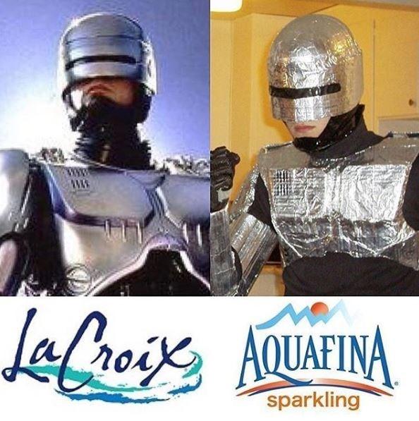 la croix robocop vs aquafina aluminum foil cop
