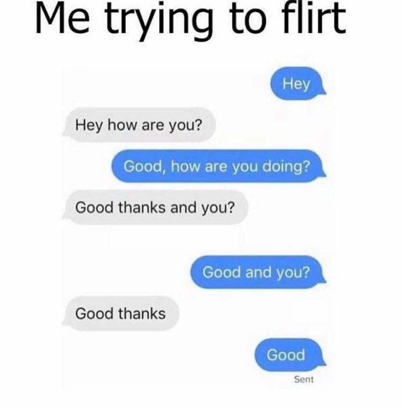 work meme about awkward flirting