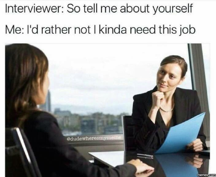 work meme about hiding information to get a job