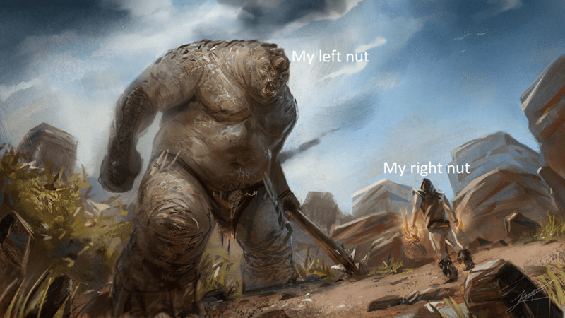 fantasy object labeling meme of left nut and right nut