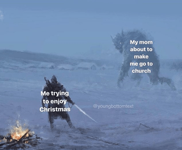 fantasy object labeling meme about church and christmas