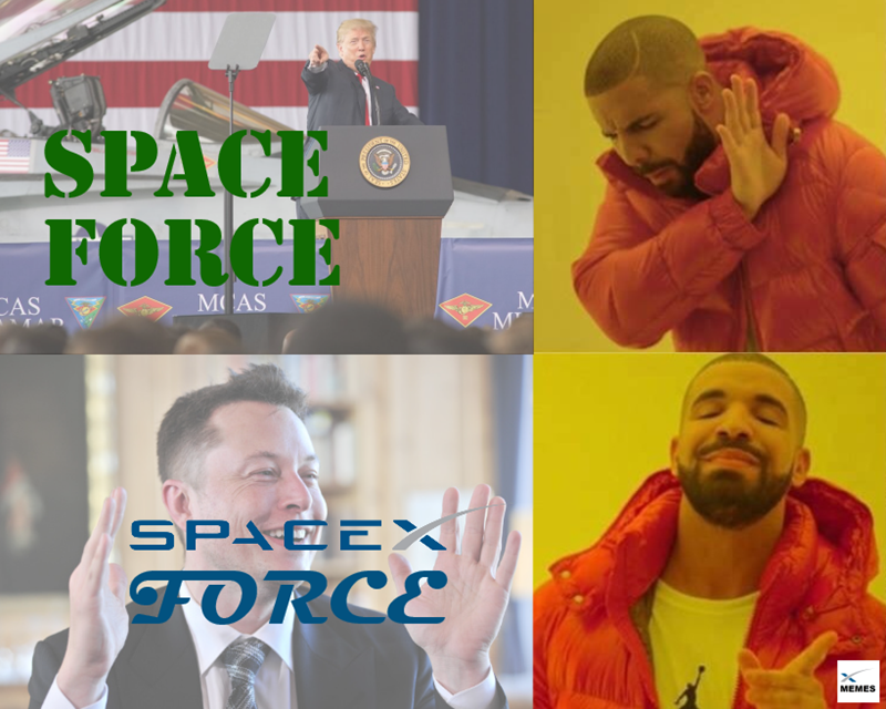 Head - SPACE FORCE Semm CAS M AS AD SPACEX FORCE MEMES (S